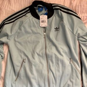 Brand new baby blue Adidas zip up